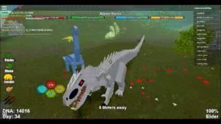 Roblox dinosaur simulator Indominus rex gameplay 2017