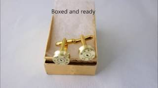 Making Bullet cufflinks with a mini lathe