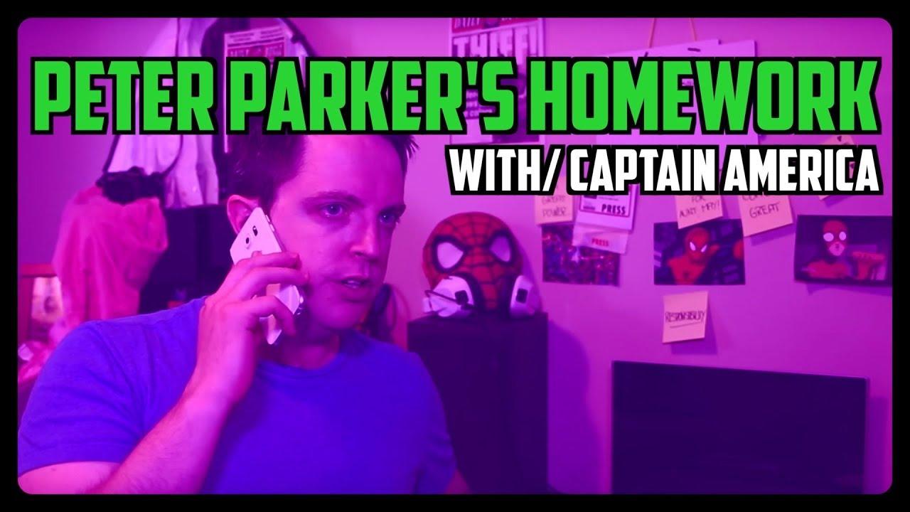 Sketch From Superheroes: Peter's Homework (Captain America)