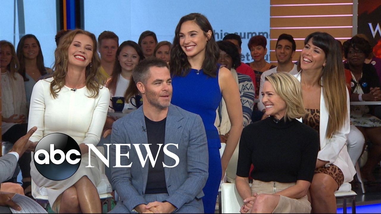 the cast of wonder woman takes over gma youtube