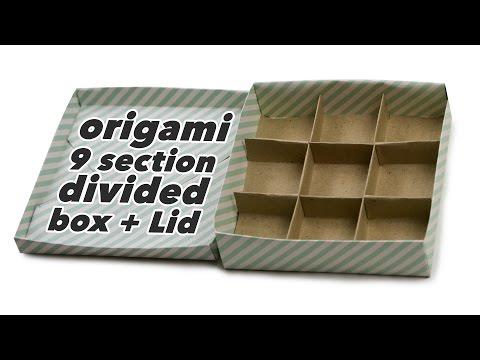 Origami 9 Section Box + Divider + Lid Tutorial ♥︎ DIY ♥︎ Paper Kawaii