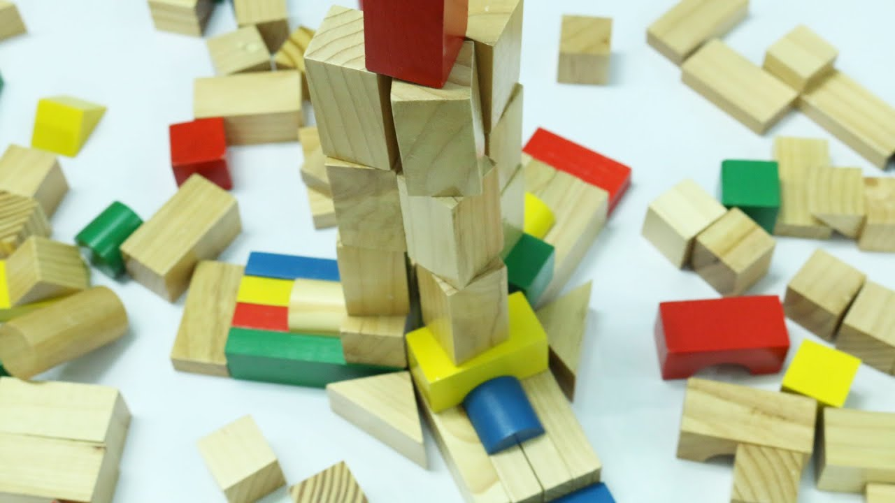 Wooden Building Blocks Toys for Children