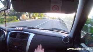 Обучение вождению на машине ученика. Урок №10 часть 1, опасные повороты, короткие рефлексы, взгляд.