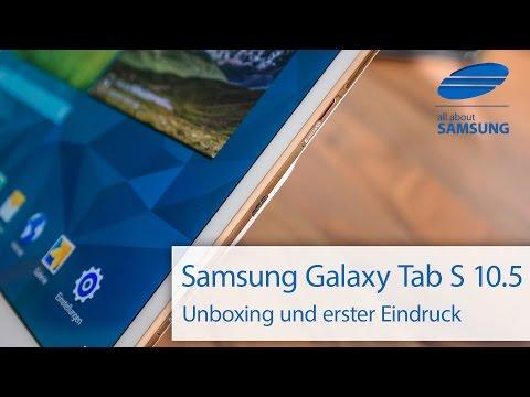Samsung Galaxy Tab S 10.5 Unboxing und Lieferumfang deutsch HD