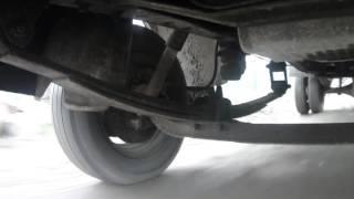 Работа передней подвески в движении ГАЗель