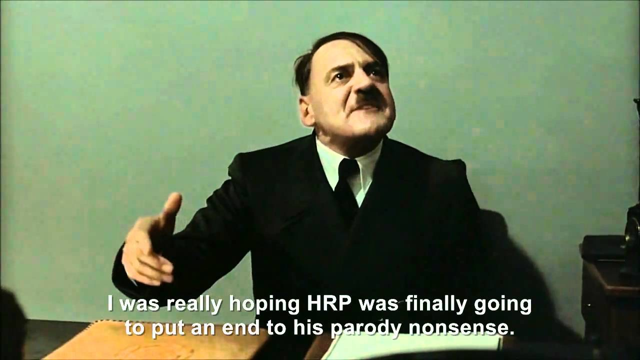 Hitler is informed Hitler Rants Parodies has not ended