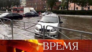 Пригородные катаклизмы: ураган и ливень с градом в Перми, а в Москве жара за 30°.