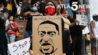 Protests, unrest continues in Los Angeles 1 week after George Floyd killing | KTLA 5 News