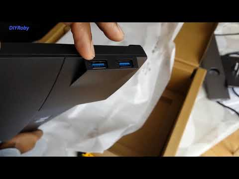 Dell P2419H 24 Inch IPS Monitor Unboxing Measurement First Turn On & Impressions.