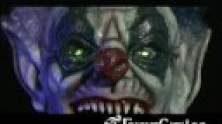 Evil Clown Head Animated Halloween Decoration