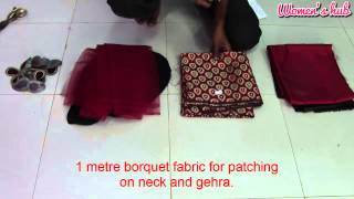 24 Panel Anarkali - 2. Overview of the fabric