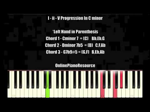 I Ii V Progression In Cm Jazz Chords For Beginners Youtube