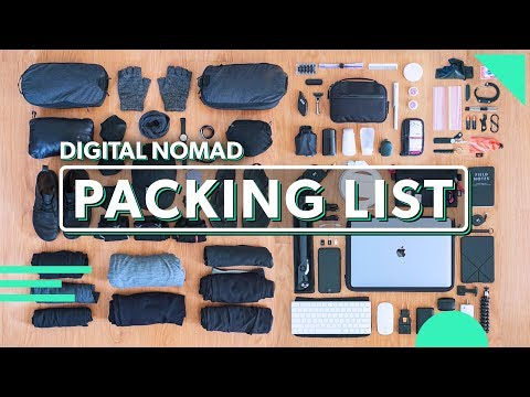 The Ultimate Digital Nomad Packing List | 81 Items For Minimalist Carry On Travel