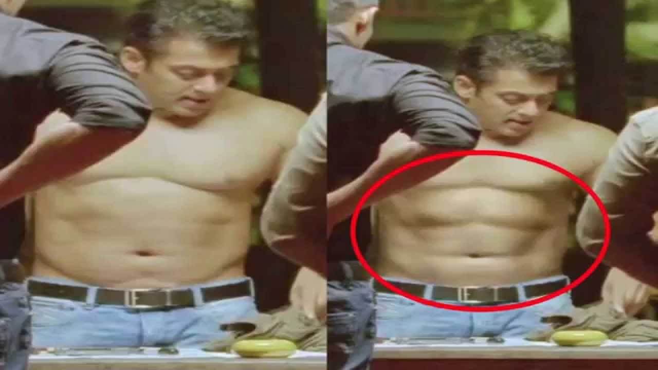 Salman Khan Fake Six Pack Video Bollywood Bai
