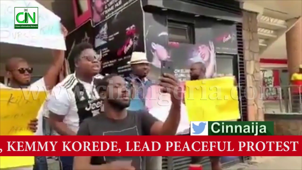 Download SOUTH AFRICA XENOPHOBIA : NOLLYWOOD STARS LEAD PEACEFUL PROTEST AT SHOPRITE MALL, IKEJA, LAGOS
