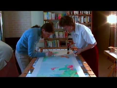 Silk Painting at IDEAL Society