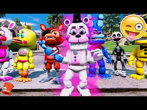 BRAND NEW FREDDY ANIMATRONIC! ADVENTURE FUNTIME FREDDY! (GTA 5 Mods For Kids FNAF RedHatter)