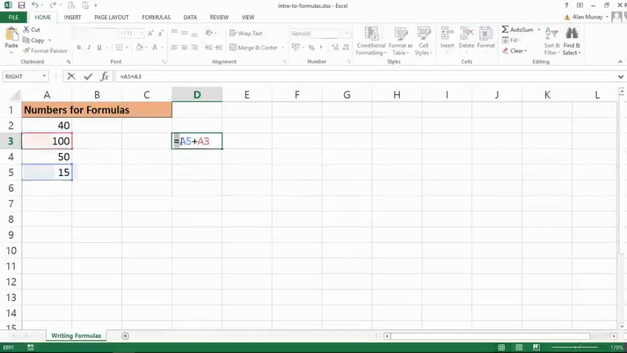 How to make an excel formula absolute - Excel Formulas Part 1 Excel Formulas For The Absolute Beginner Learn Excel Formulas