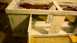 125 Gallon Fish Tank Project Part 1 - Painting Tank Stand