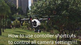 DJI Inspire 1, learn camera controls without using touchscreen