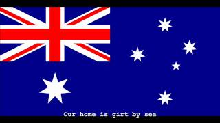 National Anthem of Australia Instrumental with lyrics