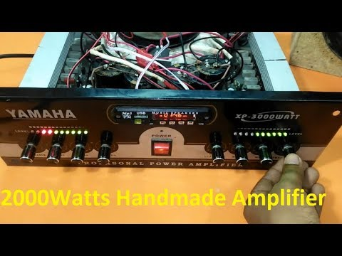 how to make an amplifier 2000 Watts using 2SC5200 and 2SA1943? professional  amplifier? electronics