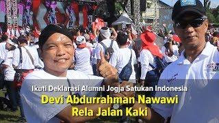 Jalan Kaki, Caleg Nasdem Devi Abdurrahman Nawawi Ikuti Deklarasi Alumni Jogja Satukan Indonesia