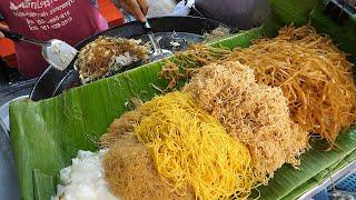 """Знаменитая улица """"Pad Тайский"""" в Бангкоке - тайская уличная еда"""