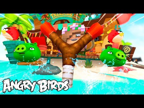 LITTLE KELLY IS AN ALL NEW ANGRY BIRD - Minecraft w/ Sharky