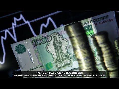 Рубль за год сильно подешевел. Именно поэтому президент запретил показывать курсы валют. № 997