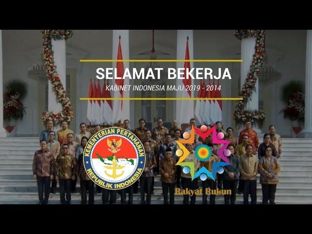 Terimakasih Kabinet Indonesia Kerja dan Selamat Bekerja Kabiner Indonesia Maju
