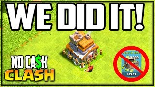 WE MADE IT to Town Hall 8! Clash of Clans No Cash Clash Episode 27