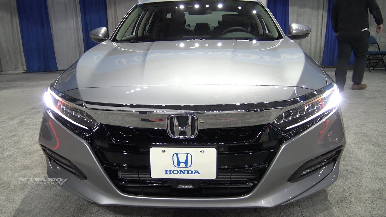 2018 Honda Accord 1.5T TRG - Exterior And Interior Walkaround - Albany Auto Show 2017 - YouTube