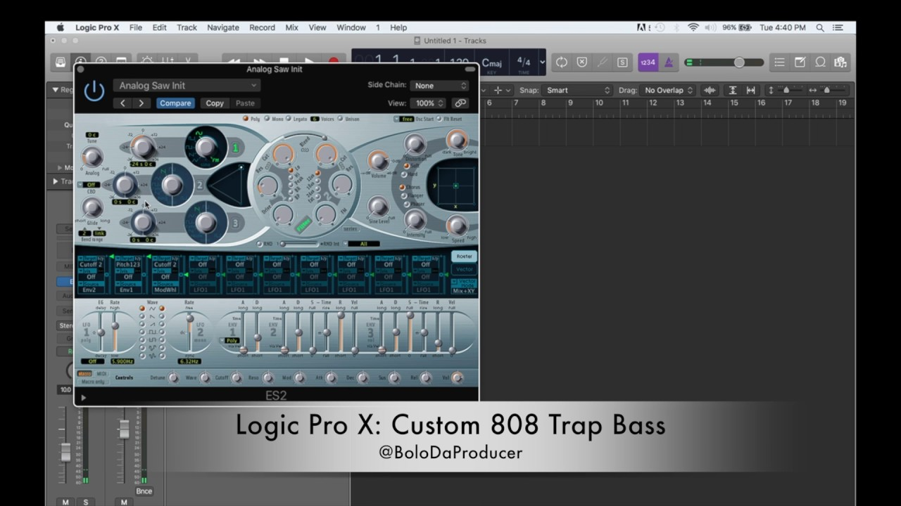 Logic Pro X: Create Custom 808 Trap Bass