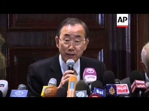 Ban Ki-moon urges Israel and Gaza militants to hold their fire