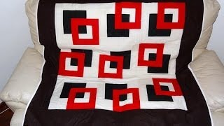 Manta/colcha para sofá em patchwork Os quadrados