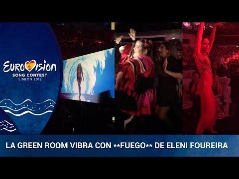 **FUEGO** Así se ha vivido la actuación de Eleni Foureira en la 'green room'