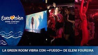 FUEGO-Así-se-ha-vivido-la-actuación-de-Eleni-Foureira-en-la-green-room
