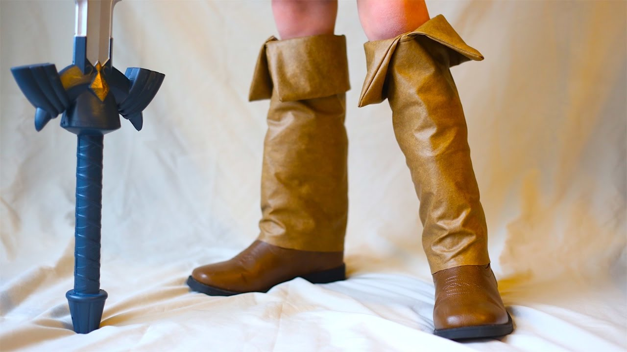 36f8a4cda16d5 How To Make Young Link Boots! Zelda Ocarina Of Time Costume!