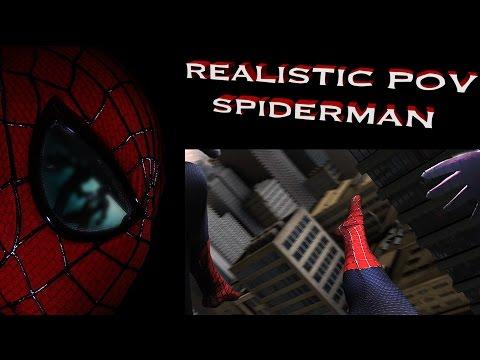 REALISTIC POV SPIDERMAN Swings Through CGI City