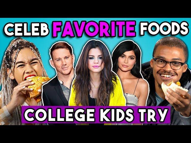 College Kids Try Celebrity Favorite Foods | College Kids Vs. Food
