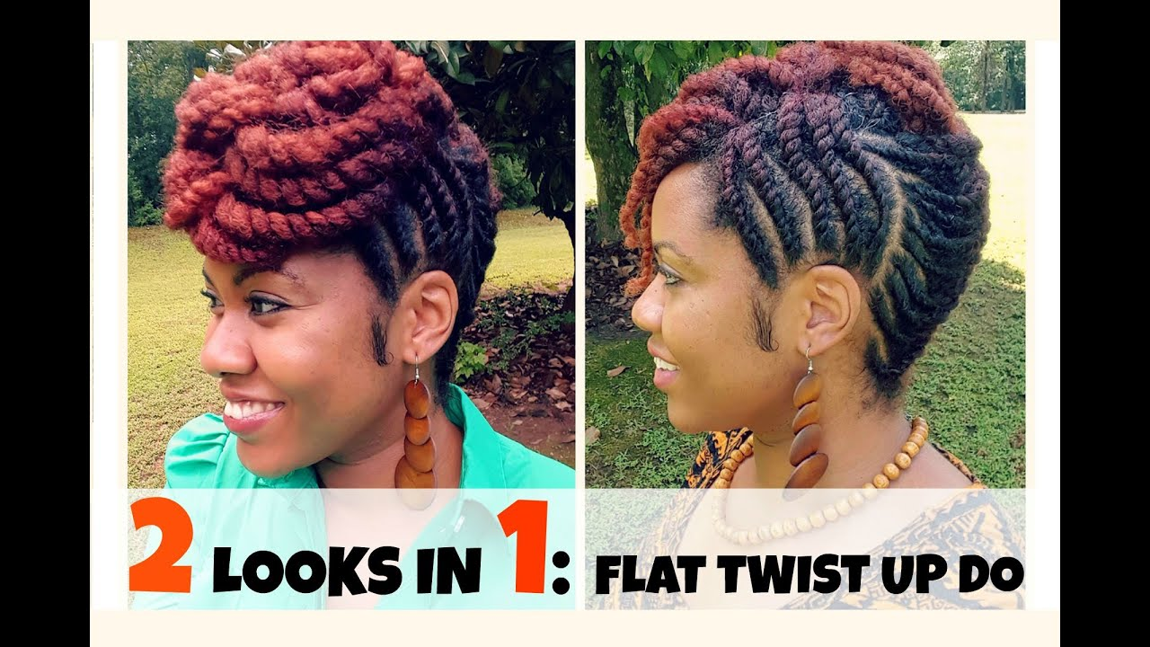 naturally michy   flat twist updo hairstyles