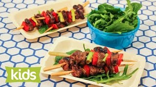 Kids Teriyaki Beef Skewers