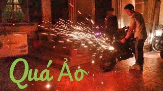 Z300 Bắn Pháo Hoa bằng bùi nhùi thép ( Z300 Fireworks with Steel wool )
