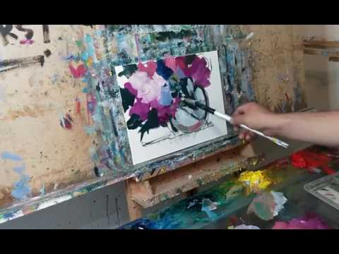How to Paint Impressionist Abstract Flowers Bouquet by JOSE TRUJILLO