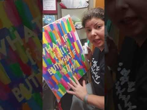 Paint vinyl peel on canvas..... Hot Mess express.
