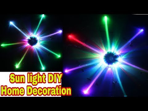 How To Make Sun Light Led Decorating Lights Cd Decoration स र य ल इट