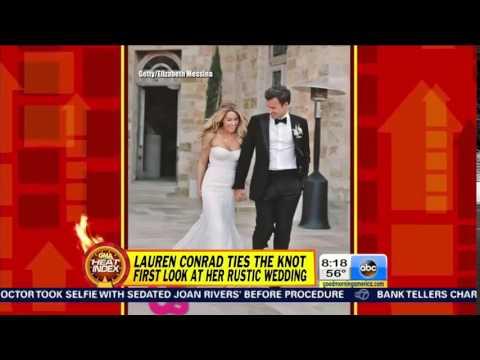Good Morning America on Lauren Conrad's Wedding Photos