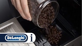 How to make coffee using beans with your De'Longhi PrimaDonna XS ETAM 36.365 coffee machine