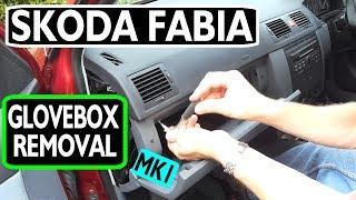Skoda Fabia dashboardkastje verwijderen